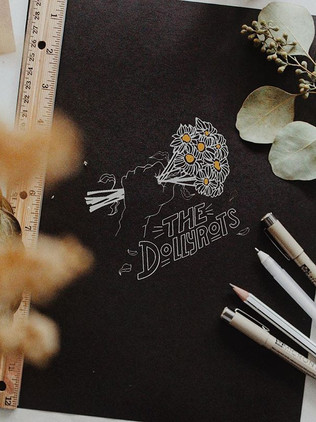 Conceptualizing T-Shirt art for _thedollyrots. Blooms and tunes and tees - those are the preferences. ._._._._._._._._._._.jpg
