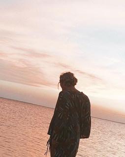 Sinking into a Sunset & a Selfie