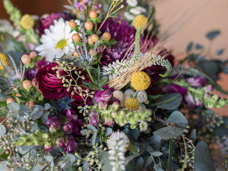 Floral Arrangements at Hermitage Hill Farms