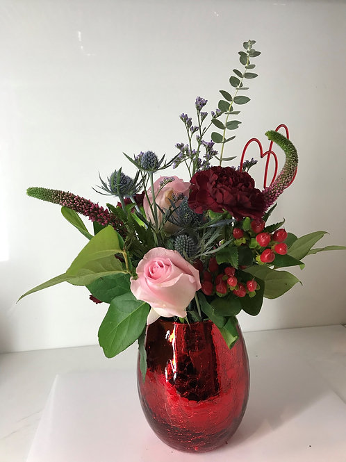 Small Bouquet & Godiva Chocolates