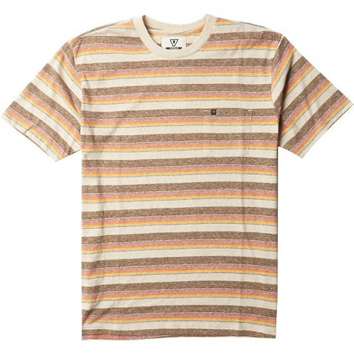 TROUT SS PKT TEE JAVA HEATHER