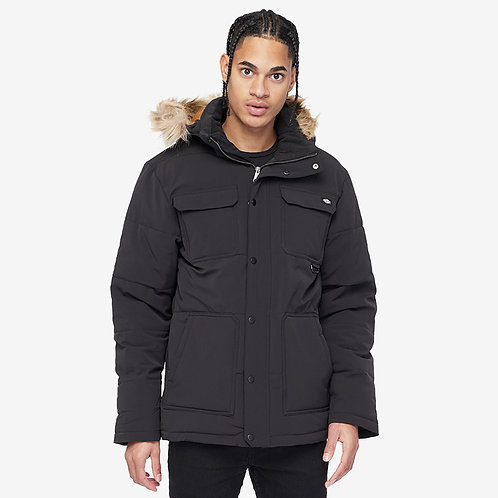 CASACO DICKIES MANITOU QUILTED PARKER BLACK