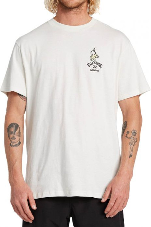 T-SHIRT BILLABONG FROM HERE TO THERE DR SEUSS OFF WHITE