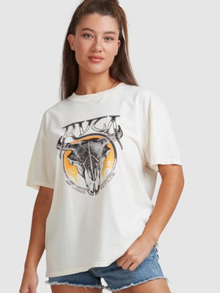 DEATH VALLEY SS TEE - Bleached