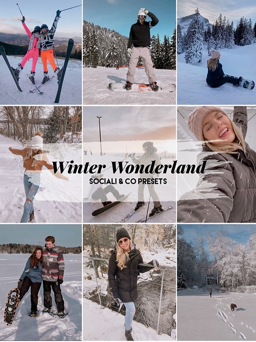"""Winter Wonderland"" Preset Package"