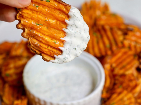 Sweet Potato Chips and Paleo Ranch