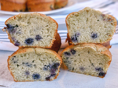 Blueberry Olive Oil Muffins