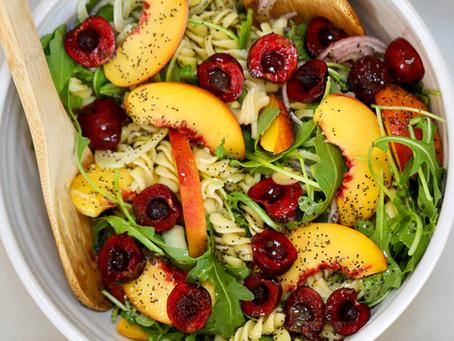 Stone Fruit Pasta Salad