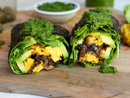 Vegan Nori Wrap with Caramelized Onions