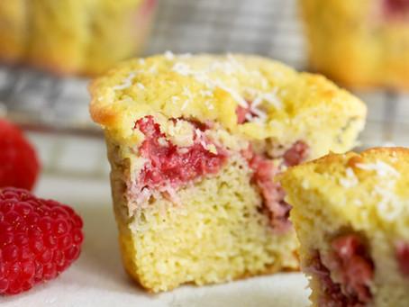 Pom's Keto Coconut Raspberry Muffins