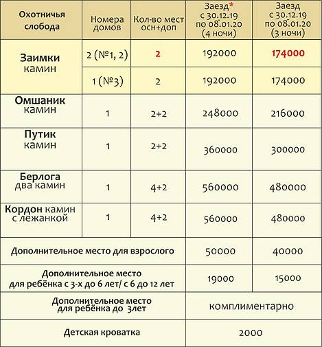 цены НГ  и каникулы вместе  охотничья.pn