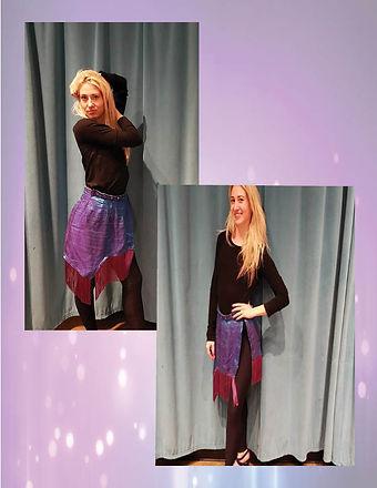 Purple Fringe Wrap Skirt