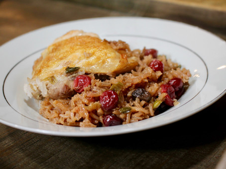 Cranberry-Hoisin Chicken over Jasmine Rice