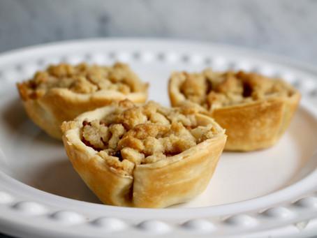 Mini Apple Crumb Pies
