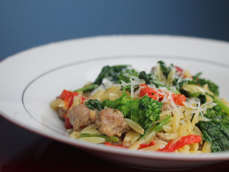 Orzo with Sausage & Broccoli Rabe