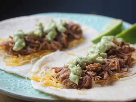 Slow Cooker Meal-Pork Carnitas Street Tacos