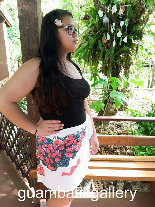 Printed: Cotton Wrap Skirt of Legend of The Flame Tree