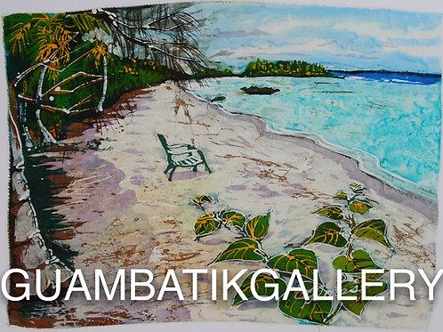 Print: TONGGAN BEACH W CHAIR (8X10)
