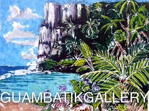 Print: Two Lovers Point with Purple Flowers (8X10)