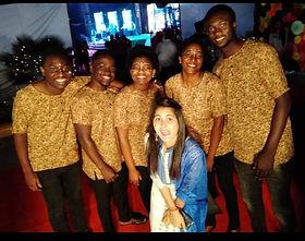 Happy African edoofians participating in cultural program