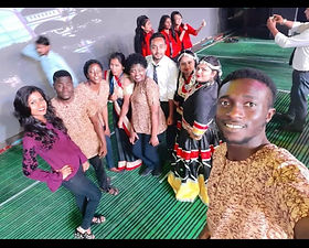 Edoofians from Ghana, Zimbabwe, Nigeria and Malawi all collaborating with Indian students for cultural program