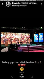 Edoofians perform on stage at college fest