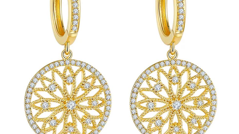Genuine sterling silver lab diamond earrings
