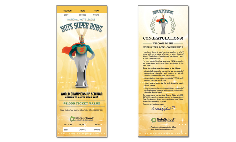 Note Super Bowl Ticket