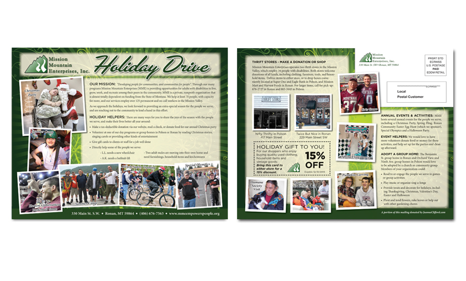 8x10 EDDM Holiday Drive Postcard