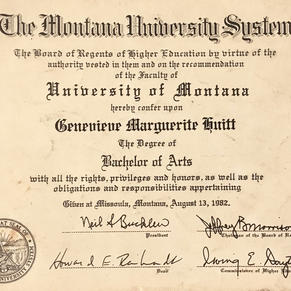 University of Montana Degree