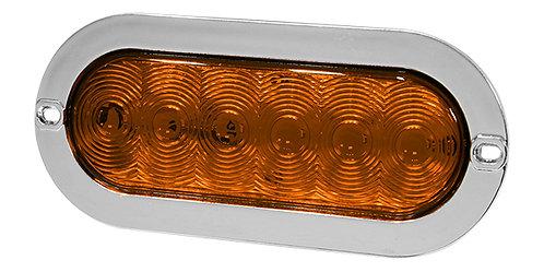 PLAFON EMB. OVAL BRIDA CROMO 6 LED 3 FUNCIONES AMBAR