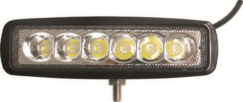 FARO DE ALTA INTENSIDAD 6 LED DUAL CON ESTROBO 18W 116x128x48mm BLANCO AMABAR