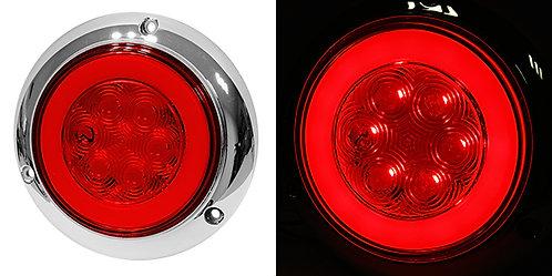 """PLAFON 4"""" PLANO CROMO 6 LED LUZ GEL CON FUNCIONES ROJO"""