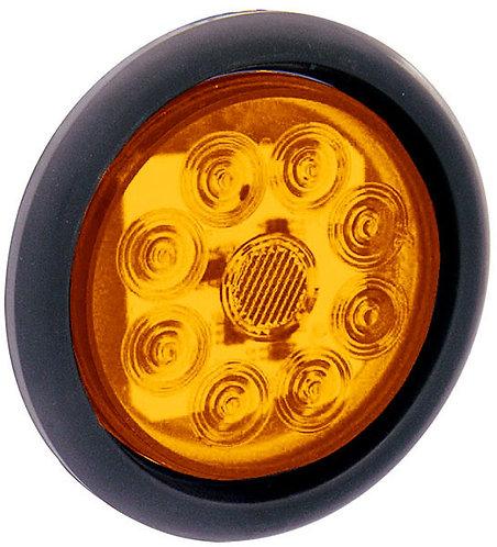 "PLAFON EMB. DE HULE 4""  8 LEDS C/ MOVIMIENTO AMBAR"