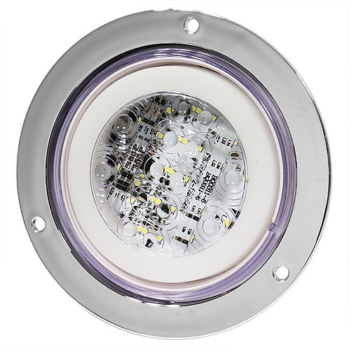 """PLAFON EMB. 4"""" BRIDA CROMO 24 LED DE GEL CON FUNCIONES BLANCO"""