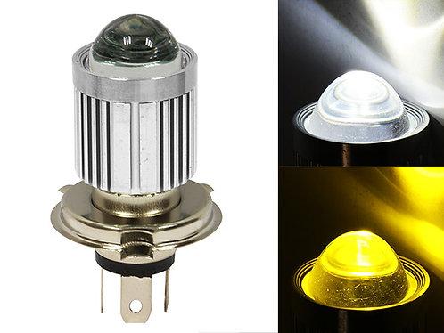FOCO H4 1 LED CON LUPA DUAL