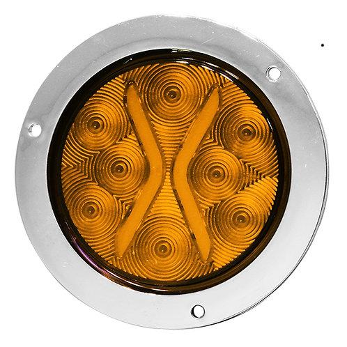 """PLAFON EMB. 4"""" BRIDA CROMO 8 LEDS DE GEL CON FUNCIONES AMBAR"""