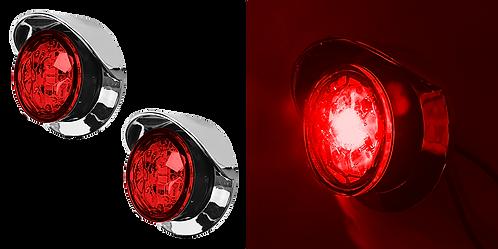 """PLAFON EMB. DE ROSCA 1"""" 2 LED ROJO CROMO"""