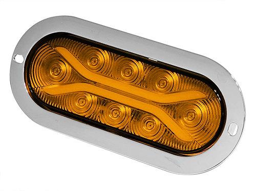 PLAFON EMB. OVAL BRIDA CROMO 8 LED DE GEL CON FUNCIONES AMBAR