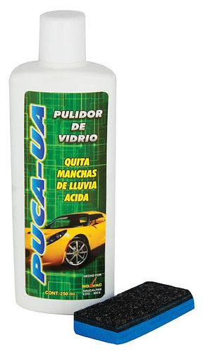 PUCA -UA PULIDOR DE VIDRIO 250 ML (QUITA MANCHAS DE LLUVIA ACIDA)