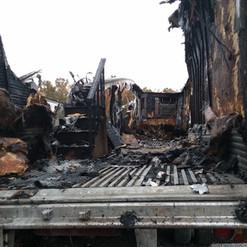 Burned out trailor Nov 7