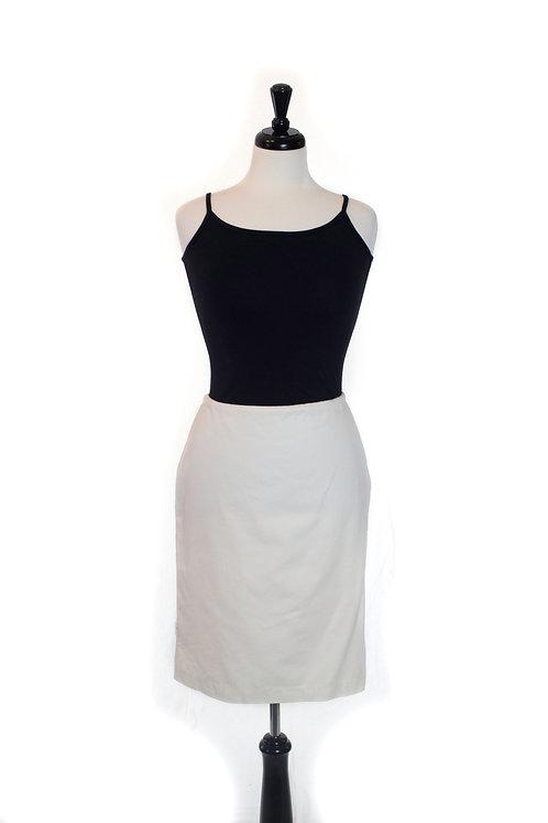 sateen straight skirt