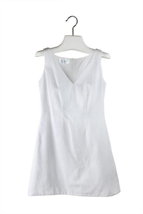 organic cotton sateen mini dress