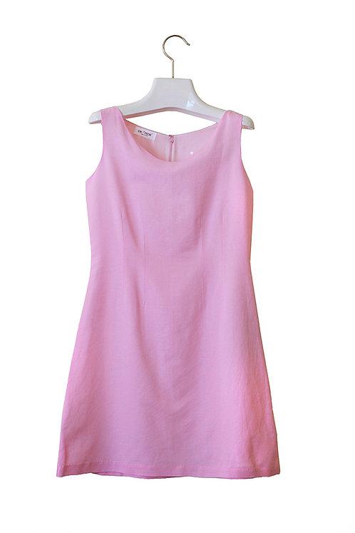 organic linen/cotton A-line dress
