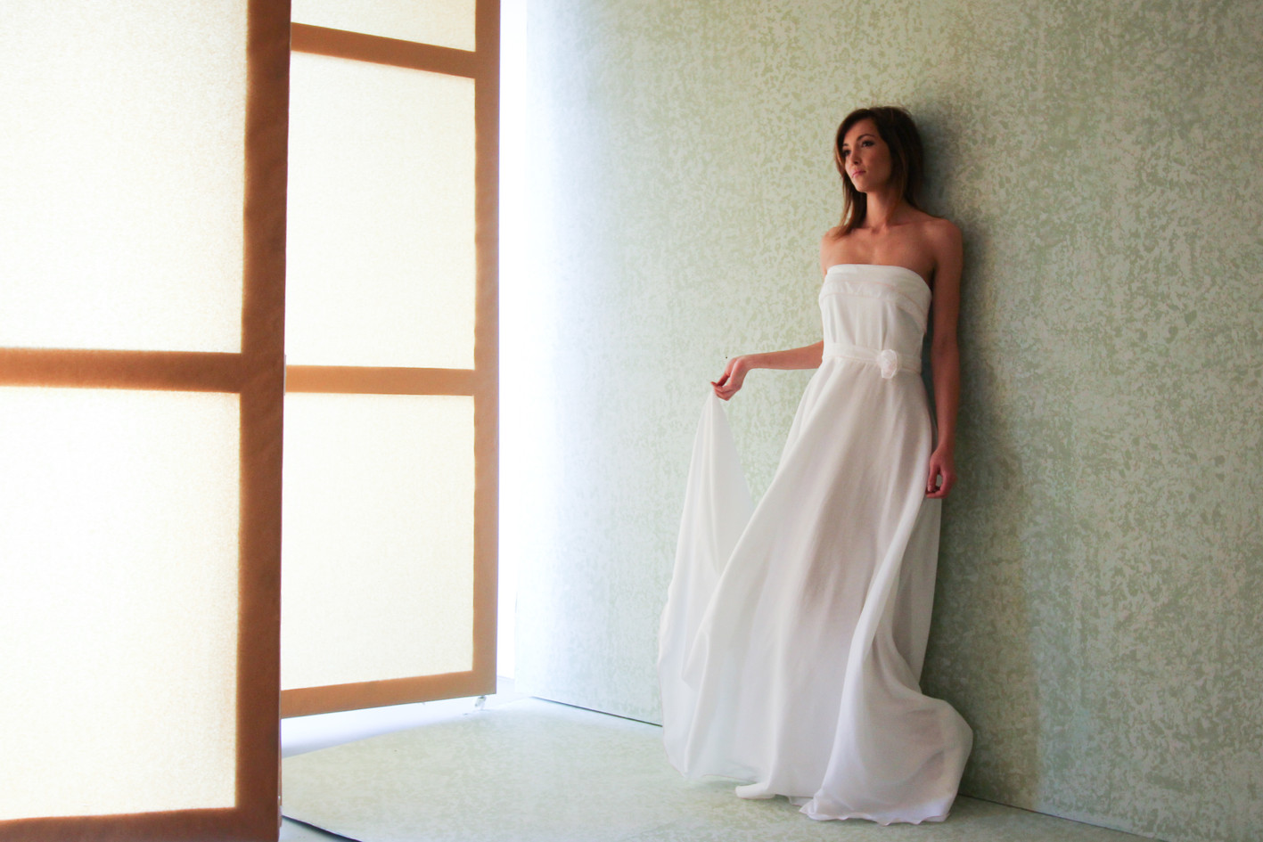 Roll Hem Gown