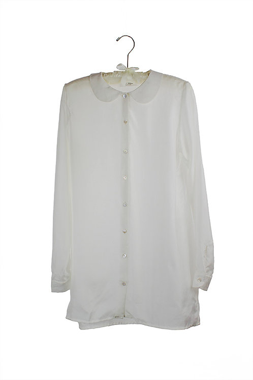 silk blouse with rounded collar