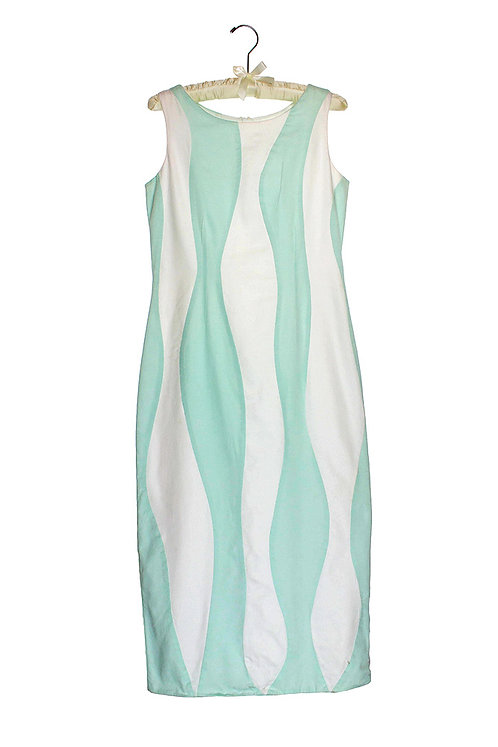 organic cotton sateen wave dress