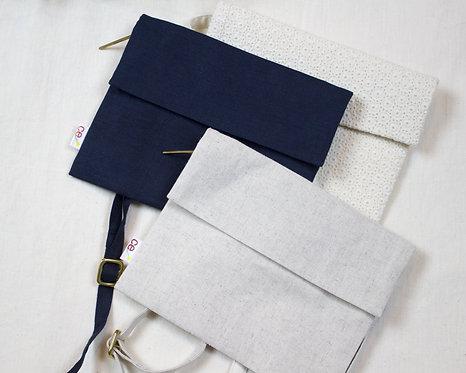 organic linen envelope purse