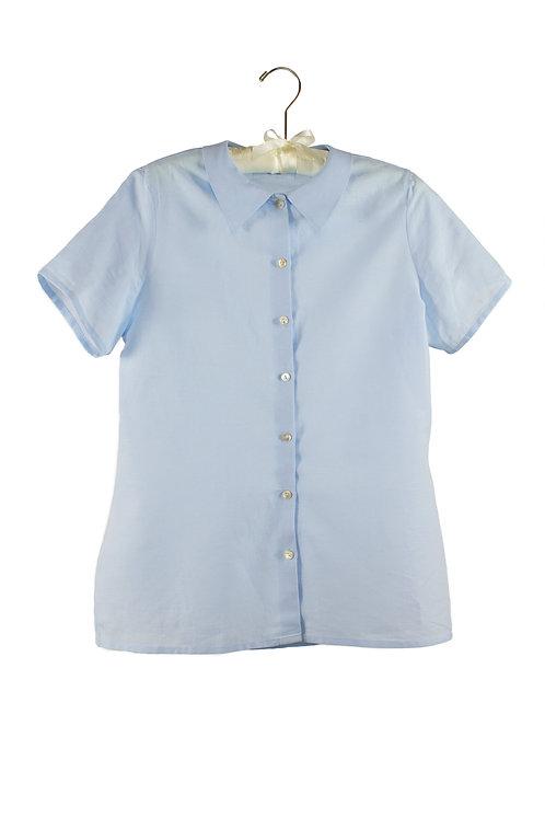 organic cotton/linen short sleeve shirt