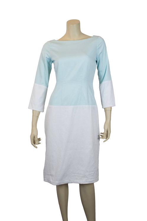two-tone raglan sleeve dress